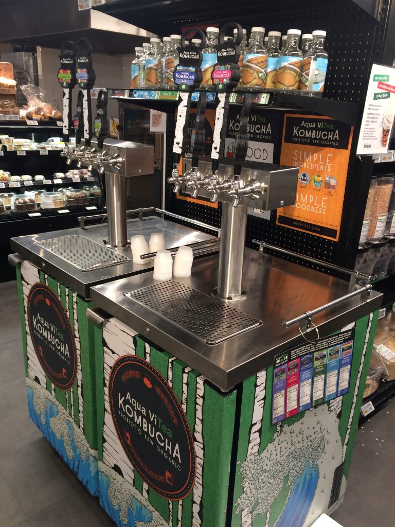 c166881d4ec There are two kombucha kegerators with 8 different flavors on tap! You can  bring in your own bottle or growler or purchase a new bottle in the store.